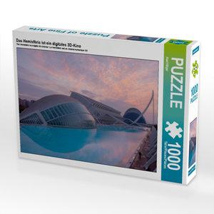 Das Hemisfèric ist ein digitales 3D-Kino 1000 Teile Puzzle quer