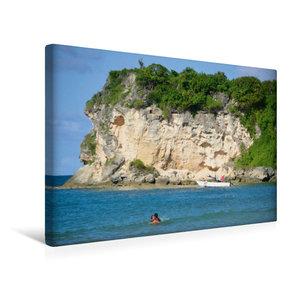 Premium Textil-Leinwand 45 cm x 30 cm quer Roco Ki Beach / Atlan