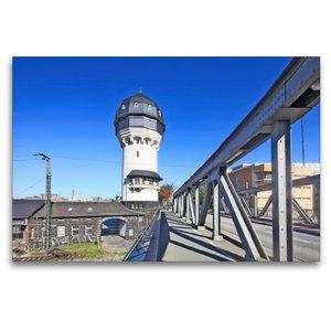 Premium Textil-Leinwand 120 cm x 80 cm quer Wasserturm Darmstadt