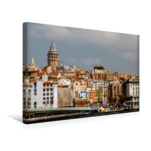 Premium Textil-Leinwand 45 cm x 30 cm quer Skyline mit Galatatur