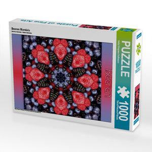 Beeren Mandala 1000 Teile Puzzle hoch
