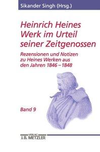 Heinrich Heines Werk im Urteil seiner Zeitgenossen 09