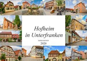 Hofheim in Unterfranken Impressionen (Wandkalender 2020 DIN A2 q