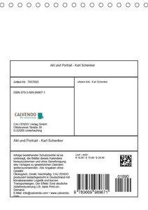 Akt und Portrait - Karl Schenker (Tischkalender 2019 DIN A5 hoch