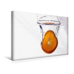 Premium Textil-Leinwand 45 cm x 30 cm quer Orange