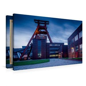 Premium Textil-Leinwand 90 cm x 60 cm quer Förderturm - das Wahr