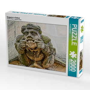 Gargoyle in Oxford 2000 Teile Puzzle quer