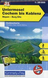 KuF Deutschland Outdoorkarte 21 Untermosel - Cochem bis Koblenz