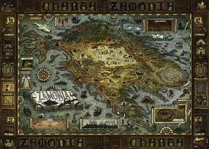 Standardpuzzle Map of Zamonia 2000 Teile
