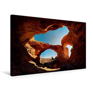 Premium Textil-Leinwand 75 cm x 50 cm quer Double Arch, Arches N