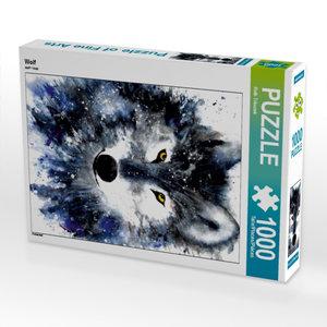 Wolf 1000 Teile Puzzle hoch