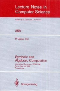 Symbolic and Algebraic Computation