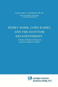 Henry Home, Lord Kames and the Scottish Enlightenment