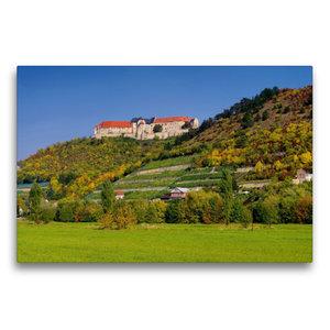 Premium Textil-Leinwand 75 cm x 50 cm quer Schloss Neuenburg