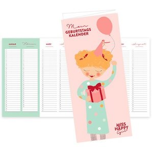 \'Miss Happy Girl\' Geburtstagskalender