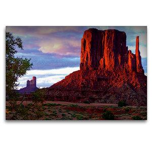 Premium Textil-Leinwand 120 cm x 80 cm quer Monument Valley