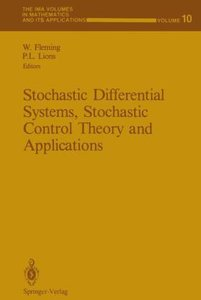 Stochastic Differential Systems, Stochastic Control Theory and A