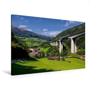 Premium Textil-Leinwand 120 cm x 80 cm quer Brennerautobahn