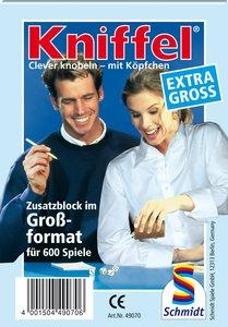 Schmidt Spiele 49070 - Kniffelblock, extra groß