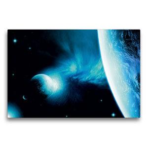 Premium Textil-Leinwand 75 cm x 50 cm quer Galaxie NCR 21