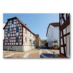 Premium Textil-Leinwand 90 cm x 60 cm quer Mühlstraße