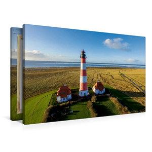 Premium Textil-Leinwand 90 cm x 60 cm quer Leuchtturm Westerheve