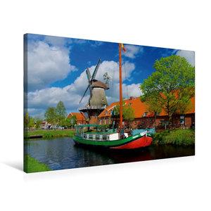 Premium Textil-Leinwand 75 cm x 50 cm quer Mühle Ostgroßefehn