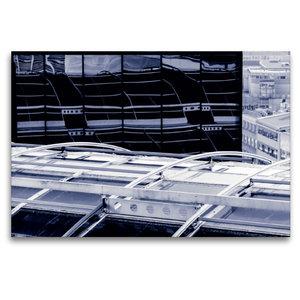 Premium Textil-Leinwand 120 cm x 80 cm quer Frankfurt/Main