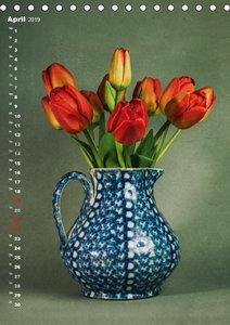 Blumenschmuck in Bunzlau Keramik (Tischkalender 2019 DIN A5 hoch
