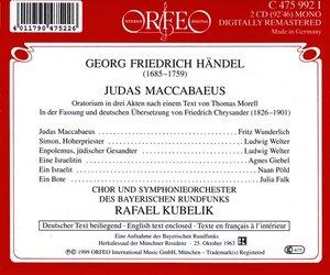 Judas Maccabaeus-Oratorium in drei Akten