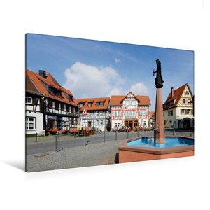 Premium Textil-Leinwand 120 cm x 80 cm quer Marktplatz