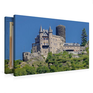 Premium Textil-Leinwand 75 cm x 50 cm quer Burg Katz - Sankt Goa