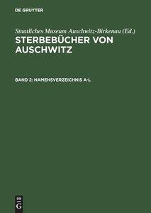 Namensverzeichnis A-Z. Annex / Index of Names A-Z. Annex / Indek