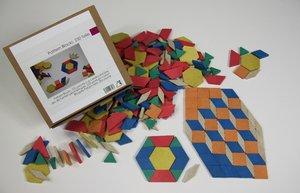 Pattern Blocks, 250 Teile aus RE-Wood®