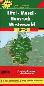 Eifel - Mosel - Hunsrück - Westerwald, Autokarte 1:150.000, Top