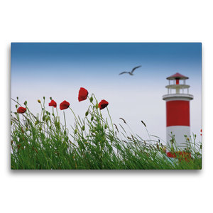 Premium Textil-Leinwand 75 cm x 50 cm quer Sommerfreude am Meer