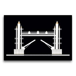 Premium Textil-Leinwand 75 cm x 50 cm quer Tower Bridge, England