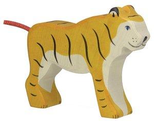 Goki 80136 - Tiger, stehend, Holz