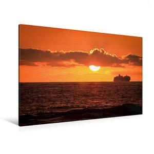 Premium Textil-Leinwand 120 cm x 80 cm quer Kona Coast