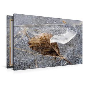 Premium Textil-Leinwand 120 cm x 80 cm quer Blatt in EIs