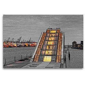 Premium Textil-Leinwand 120 cm x 80 cm quer Dockland