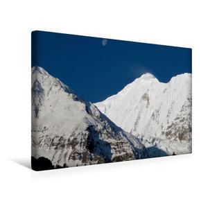 Premium Textil-Leinwand 45 cm x 30 cm quer Annapurna Himal - Gan