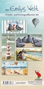 Emily und das Meer. 5 Postkarten mit verschiedenen Motiven