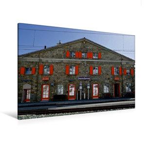 Premium Textil-Leinwand 120 cm x 80 cm quer Bahnstation Ospizio