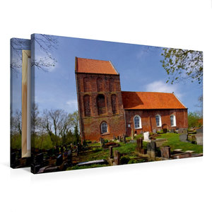Premium Textil-Leinwand 75 cm x 50 cm quer Schiefer Turm von Suu