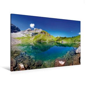 Premium Textil-Leinwand 120 cm x 80 cm quer Der Wildsee mit der
