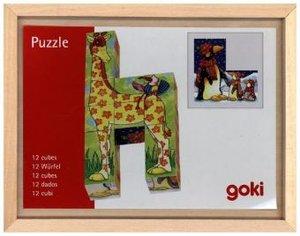 Würfelpuzzle Lustige Tiere