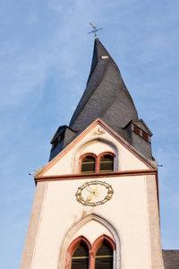 Premium Textil-Leinwand 80 cm x 120 cm hoch Kirchturm St. Cleme
