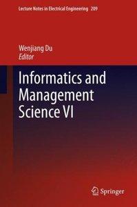Informatics and Management Science VI