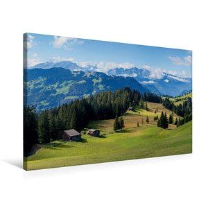 Premium Textil-Leinwand 75 cm x 50 cm quer Idyllische Schweizer